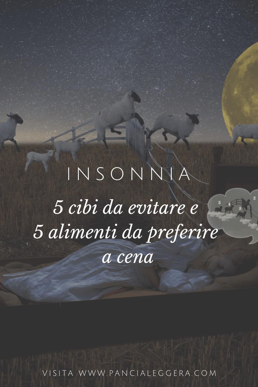 Insonnia – cibi da evitare e cosa mangiare per dormire bene