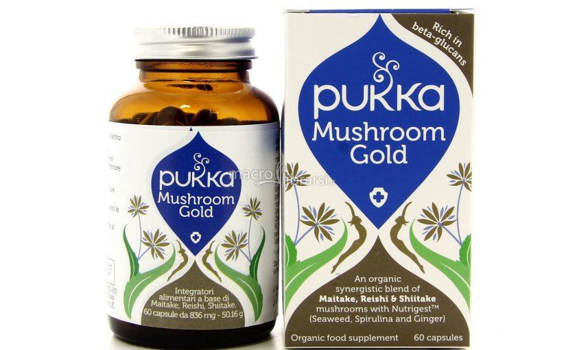 """Integratore """"Mushroom Gold"""" – Maitake, Reishi e Shiitake per aumentare le difese immunitarie e prolungare la giovinezza"""