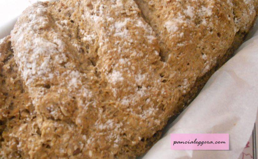 Pane integrale con kefir e semi di lino – ricetta veloce e senza lievito
