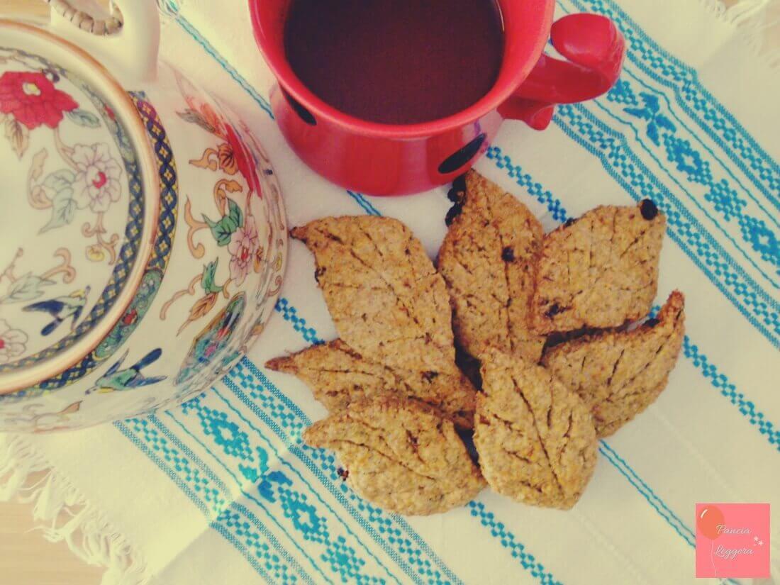 Biscotti integrali al tè verde con bacche di Goji – ricetta senza burro e senza uova