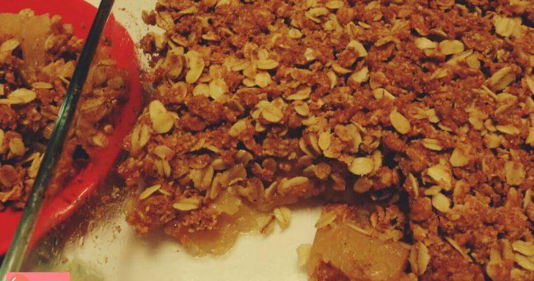 Crumble integrale di mele con fiocchi di avena – ricetta light e senza burro