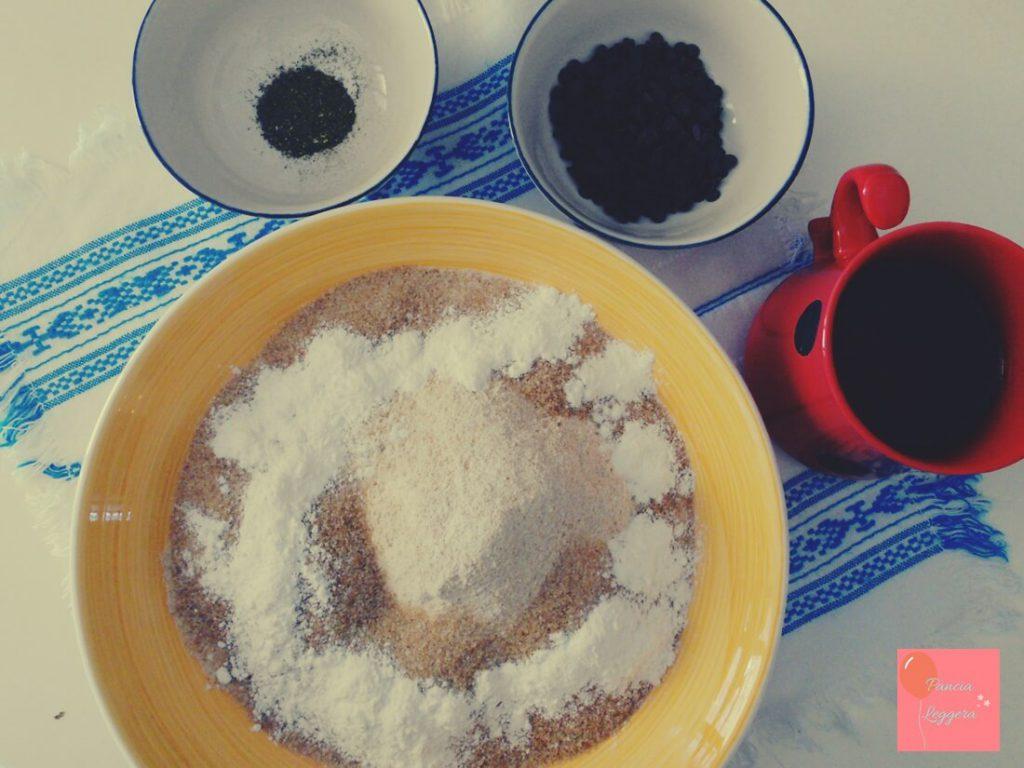 muffin-integrali-al-tè-verde-con-gocce-di-cioccolato-procedimento2-pancialeggera