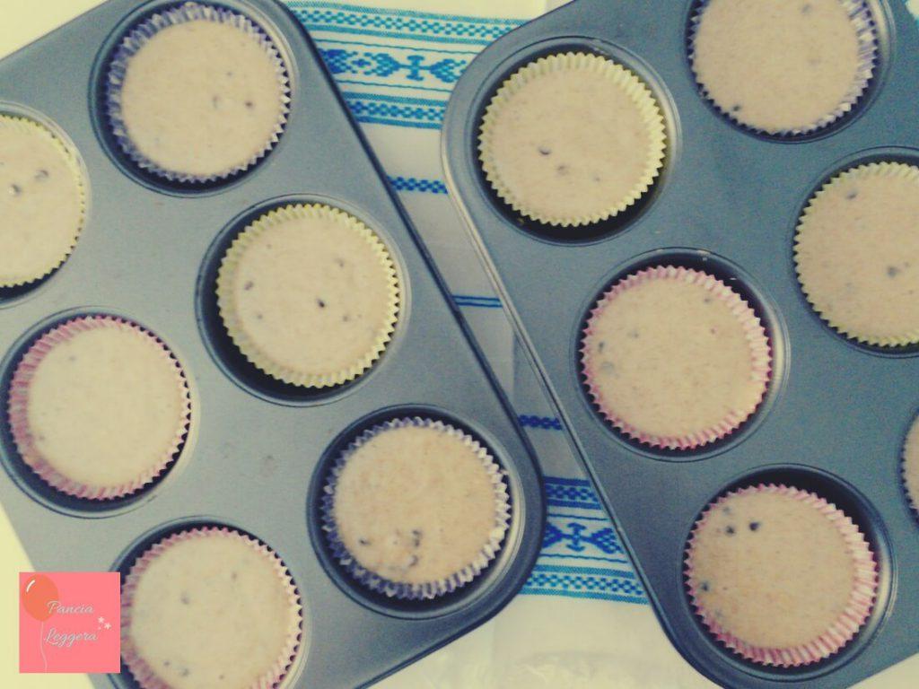 muffin-integrali-al-tè-verde-con-gocce-di-cioccolato-procedimento4-pancialeggera