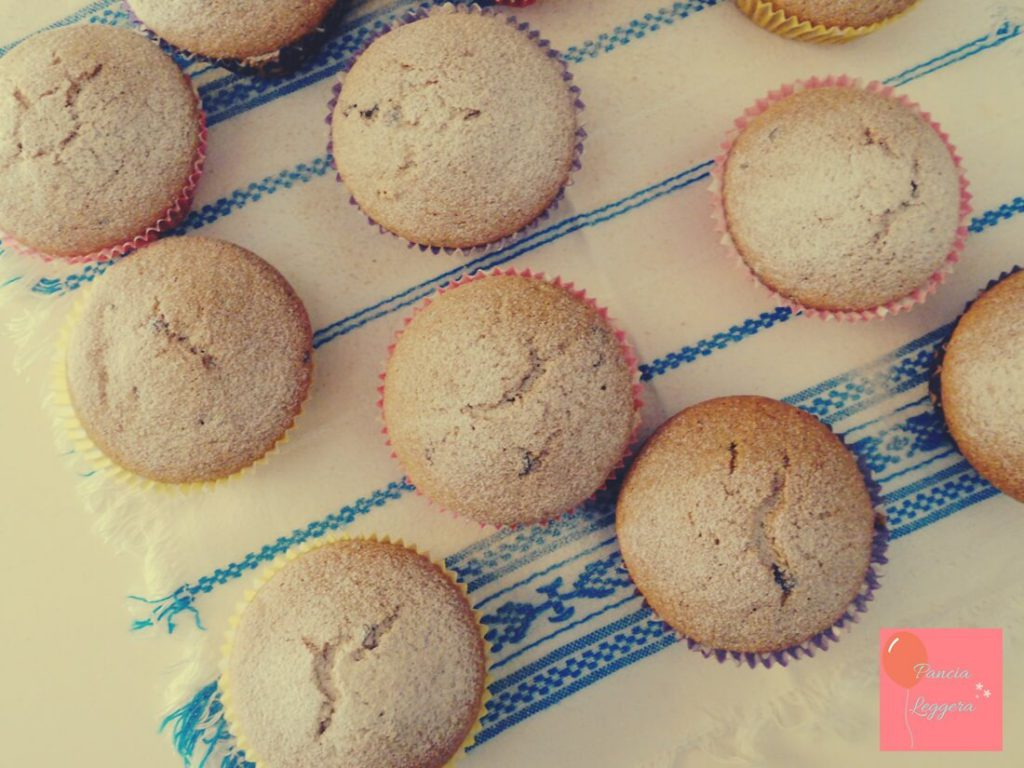 muffin-integrali-al-tè-verde-con-gocce-di-cioccolato-procedimento6-pancialeggera
