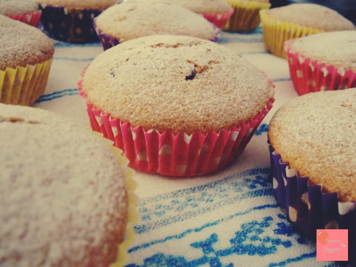 Muffin integrali al tè verde con gocce di cioccolato fondente – ricetta senza uova e senza burro