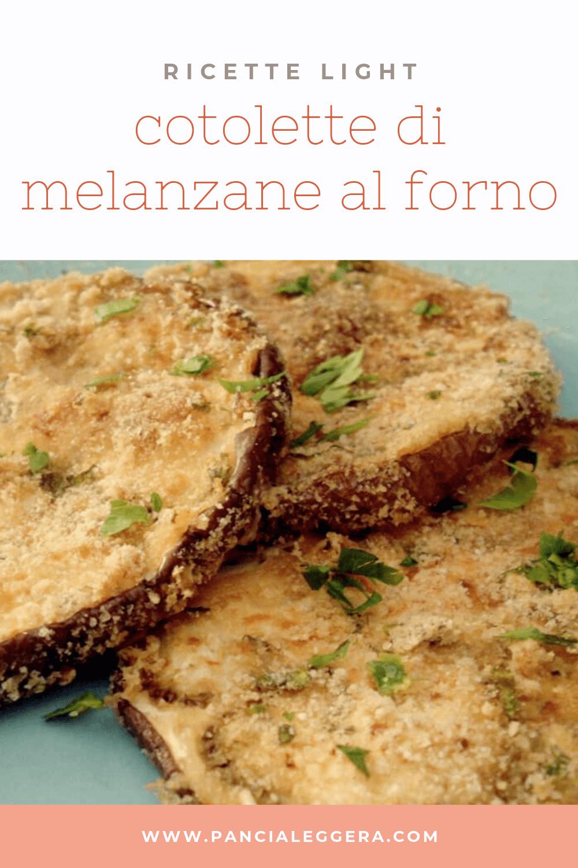 Cotolette di melanzane al forno light – ricetta senza glutine, senza uova e senza lattosio