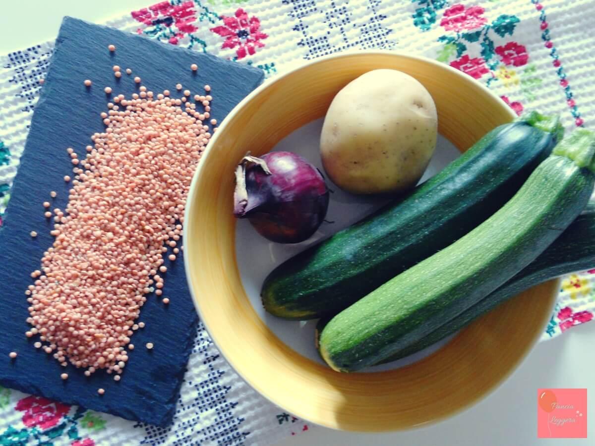 ricetta-vellutata-di-zucchine-e-lenticchie-ingredienti